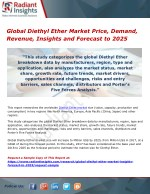 Global Diethyl Ether Market Price, Demand, Revenue, Insights and Forecast to 2025