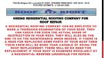 Hiring Residential Roofing Company For Roof Repair