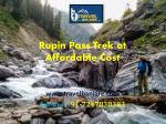 Rupin Pass Trek at Affordable Cost- Travel Banjare