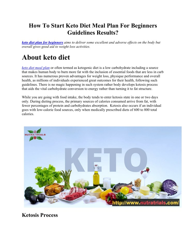 how to start keto diet meal plan for beginners n.