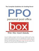 The Complete Guidelines for Sending Parcel