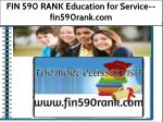 FIN 590 RANK Education for Service--fin590rank.com