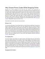 Why Choose Promo Codes While Shopping Online