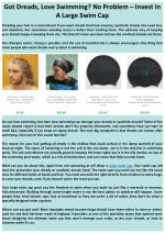 Got Dreads, Love Swimming? No Problem – Invest In A Large Swim Cap