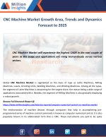 CNC Machine Market Growth Area, Trends and Dynamics Forecast to 2025