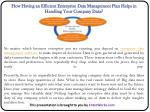 How Having an Efficient Enterprise Data Management Plan Helps in Handling Your Company Data?