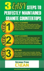 How to clean granite counters