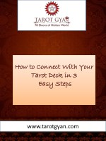 How to Connect with Your Tarot Deck in 3