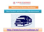 Best Pavkers and Movers in Bhubaneswar