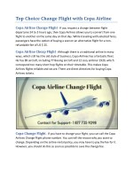 Copa Airline Flight Support - Airline Flight Support