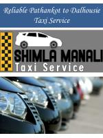 Reliable Pathankot to Dalhousie Taxi Service