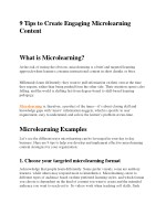 9 Tips to Create Engaging Microlearning Content
