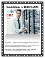 Complete Guide for CISCO TRAINING