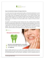 Factors to Consider before Going for an Emergency Dental Care