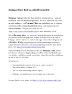 Backpage Clare Best Classified Posting Site