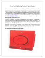 Choose from Top Leading Fire Alarm System Supplier