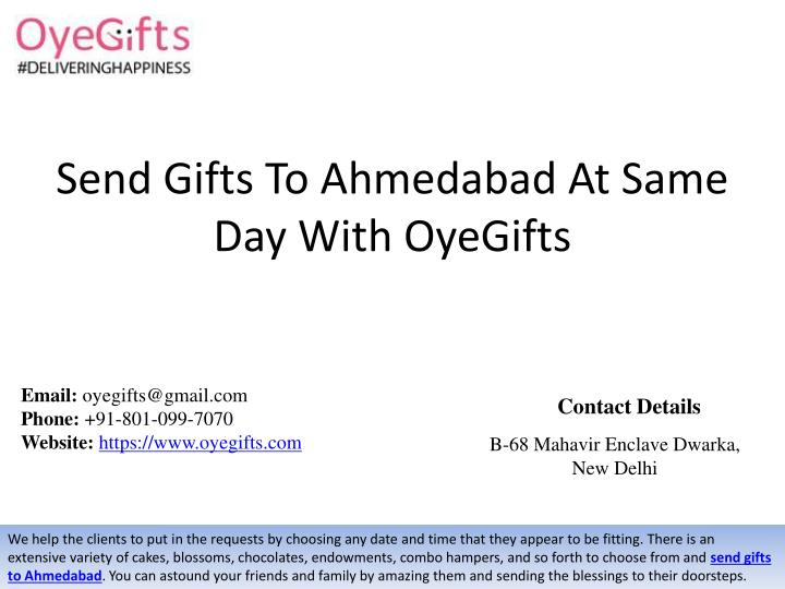 send gifts to ahmedabad at same day with oyegifts n.