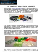 Know How Bioplastics Molding Reduces the Production Cost