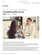 Counselling Skills Course - istudy