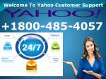 Yahoo Phone 1800-485-4057 Yahoo Email Reset Password Support