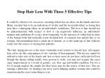 Stop Hair Loss With These 5 Effective Tips