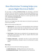 How Electrician Training helps you attain Right Electrical Skills?