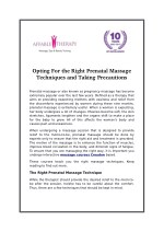 Opting For the Right Prenatal Massage Techniques and Taking Precautions
