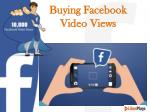 Buying Facebook Video Views