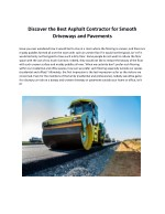 Discover The Best Asphalt Contractor For Smooth Driveways and Pavements