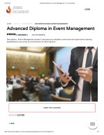 Advanced Diploma in Event Management - John Academy