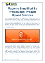 Magento Simplified By Professional Product Upload Services