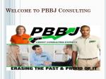 Welcome to PBBJ Consulting