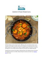 Calories in Prawn Masala Curry