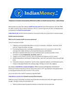 Reduction in Exclusions Announced by IRDAI and Its Effect on Health Insurance Plans – Indian Money