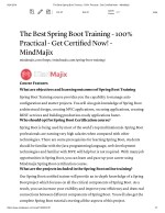 Spring boot online Training with free certification