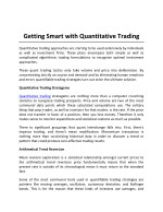 Getting Smart with Quantitative Trading