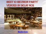 Best Reunion Party Venues in Delhi NCR