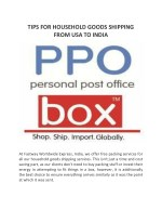 TIPS FOR HOUSEHOLD GOODS SHIPPING FROM USA TO INDIA