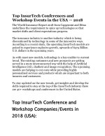 Top InsurTech Conferences and Workshop Events in the USA
