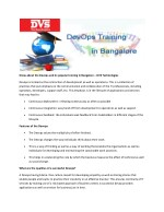 Know about the Devops and its popular training in Bangalore – DVS Technologies