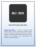 Best VoIP Provider South Africa