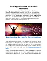 Astrology Services for Career Problems
