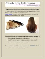 Why Tape Hair Extensions is an Impeccable Choice for Safe Styles