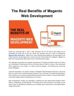 The Real Benefits of Magento Web Development