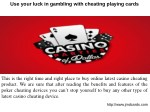 Best Cheating Playing Cards Device in Delhi