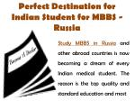 Perfect Destination for Indian Student for MBBS - Russia