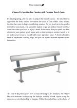 Choose Perfect Outdoor Seating with Outdoor Bench Seats