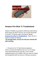 Amazon Fire Stick Tv Troubleshoot
