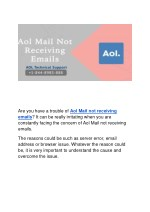 Aol Mail not receiving emails