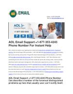 AOL Email support phone number 1-877-353-4243